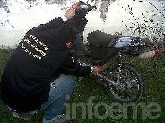 Motocicleta secuestrada