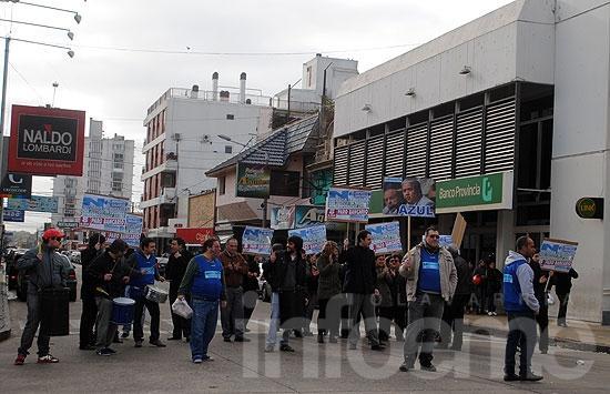 Paro y protesta de empleados bancarios en la Ciudad