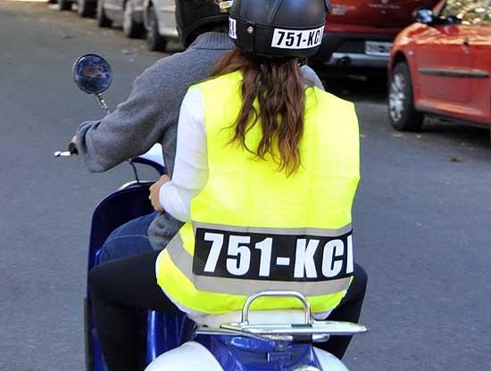 Cada vez se utilizan menos los chalecos en las motos