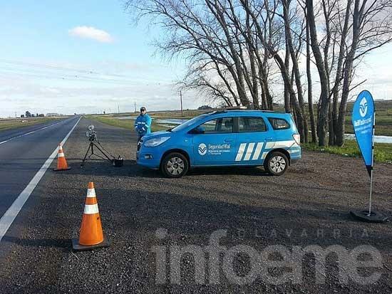 Detectaron más de 700 infracciones por exceso de velocidad
