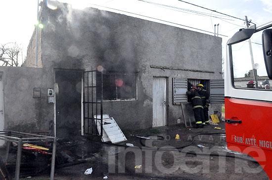 Incendio en humilde vivienda del barrio Coronel Dorrego