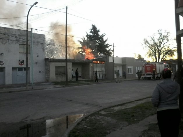 Incendio de un galpón