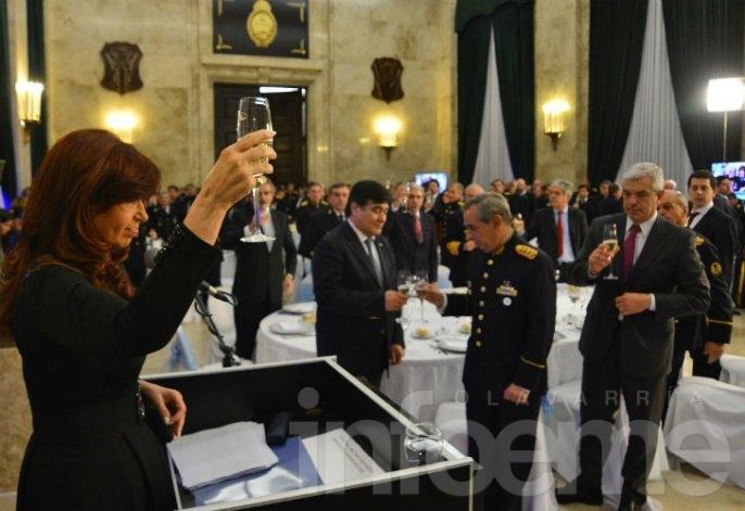Cristina encabezó su última cena de camaradería de las Fuerzas Armadas