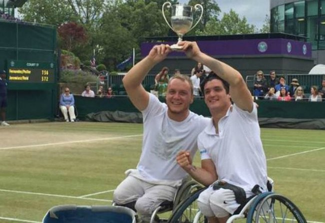 Fernández, un campeón argentino en Wimbledon