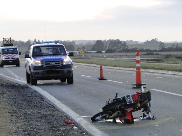 Es grave el estado del motociclista accidentado en ruta 226