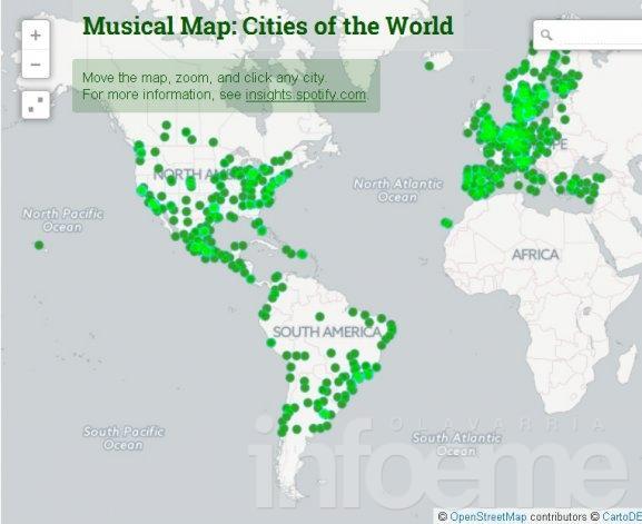 ¿Qué escuchan los argentinos? Un mapa te lo cuenta