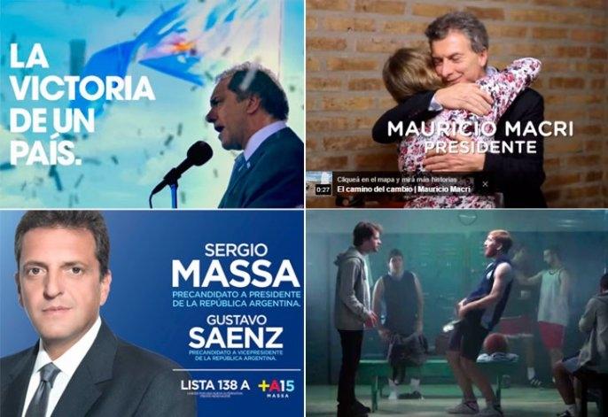 Mirá los spots de campaña de los presidenciables