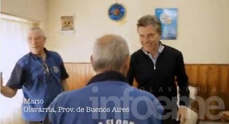 Olavarria en el spot de campaña de Macri