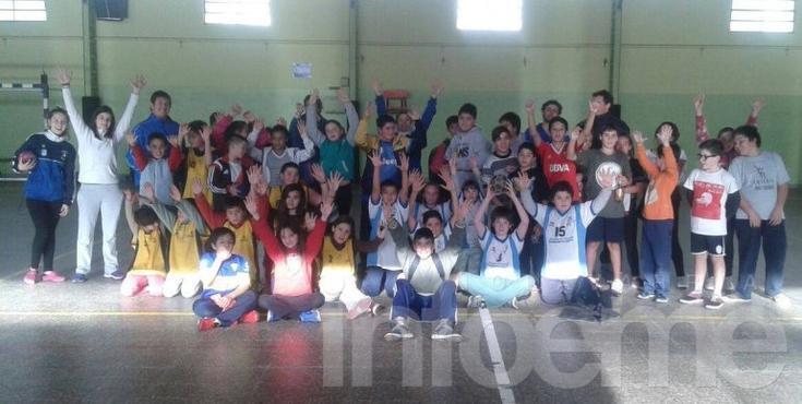 Se realizó un encuentro de handball