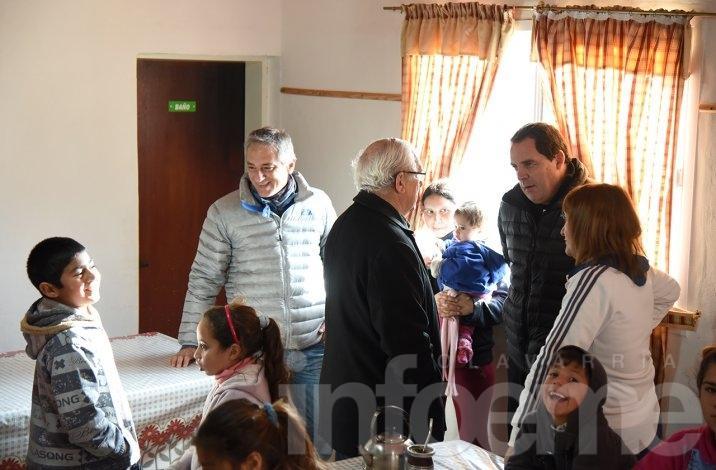 Vitale y Eseverri compartieron una jornada el barrio Coronel Dorrego,