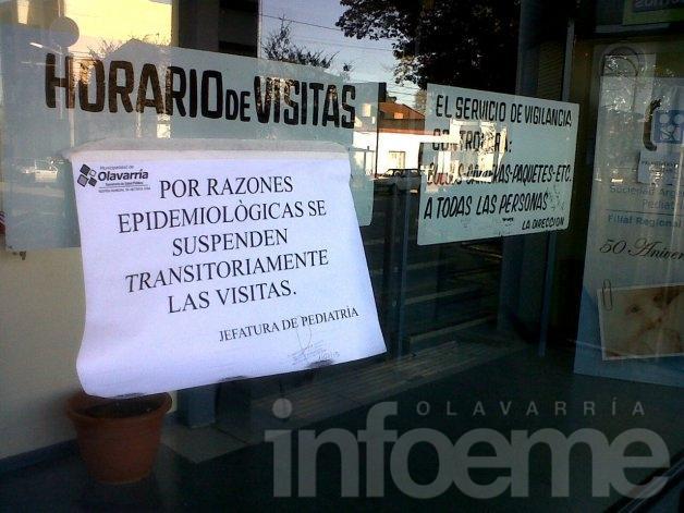 Suspenden transitoriamente las visitas en el Servicio de Pediatría