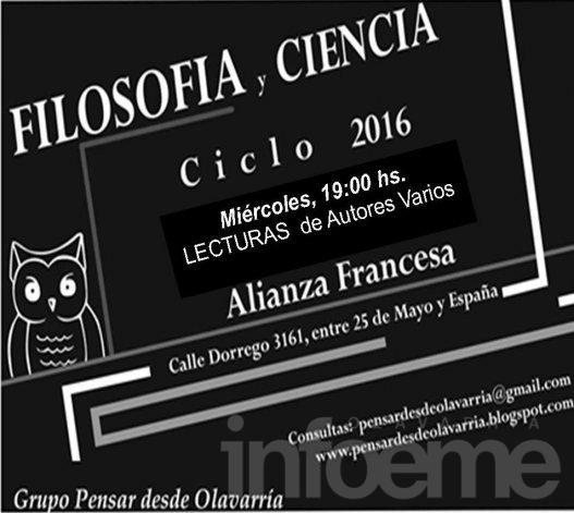 Encuentro de Filosofía y Ciencia en la Alianza Francesa