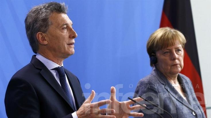 Macri confía en Alemania para impulsar acuerdo UE-Mercosur