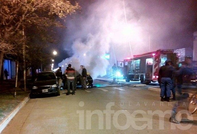 Video: así se incendiaba el automóvil