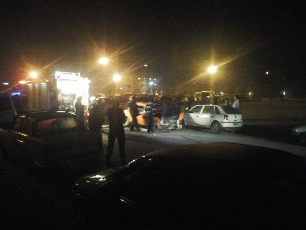 Un auto se prendió fuego