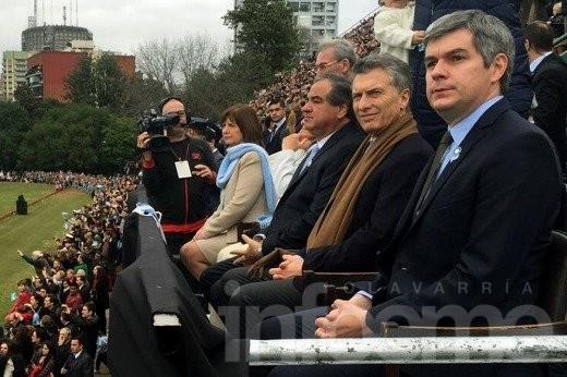 Macri finalmente asistió al cierre de los festejos