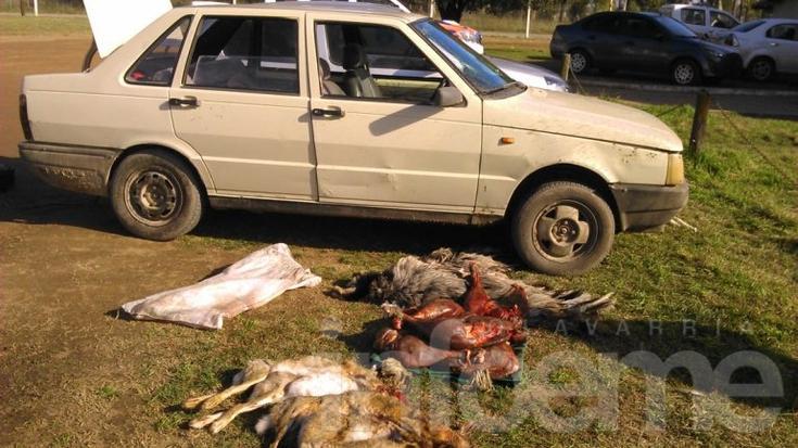 Los atrapan cuando cazaban liebres y avestruces
