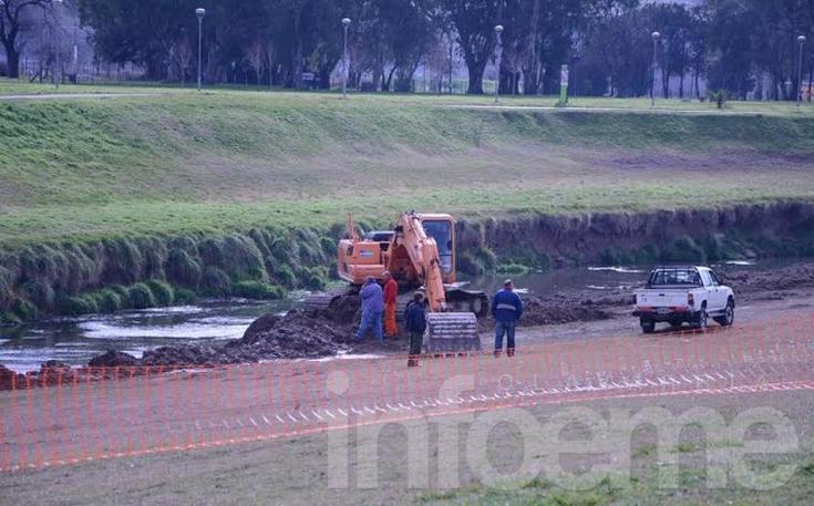 Realizan trabajos para prevenir inundaciones en Olavarría