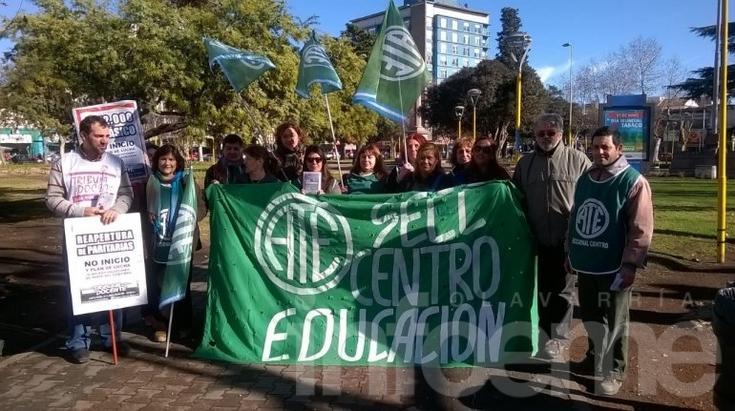 Estatales se manifestaron en el centro