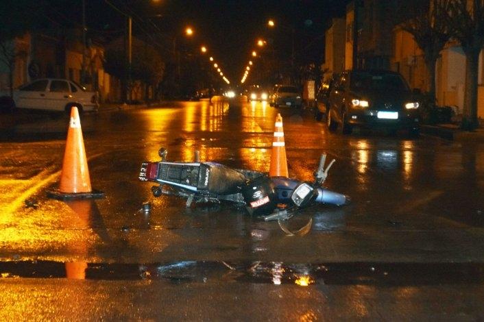 Un hombre sufrió heridas en un fuerte accidente