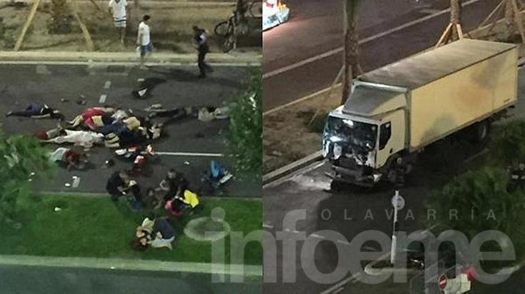 Un camión atropelló a una multitud en Francia