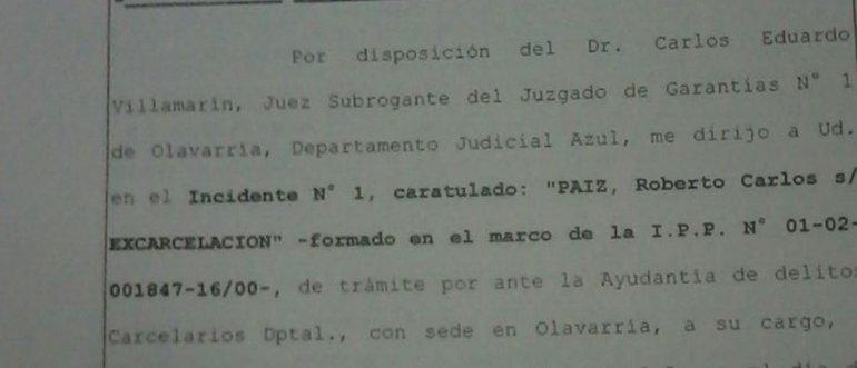 Los detalles de la resolución que liberó a Paiz
