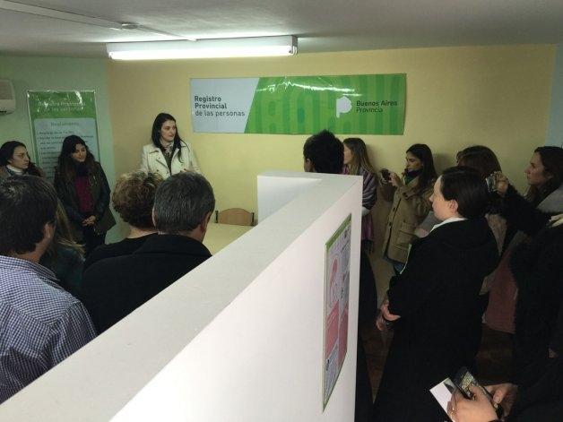 Un lactario en el Registro Provincial de las Personas