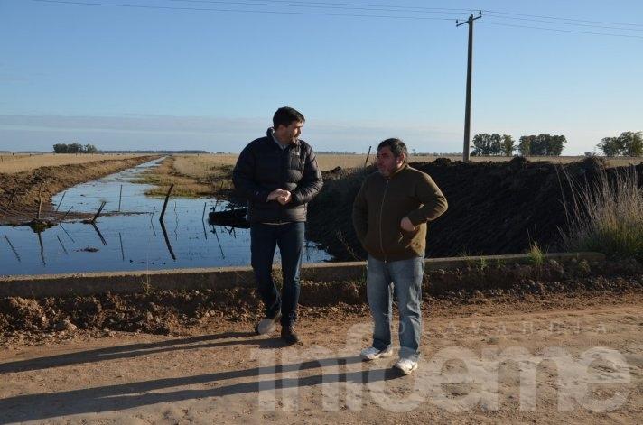 Realizan trabajos en zona rural para evitar inundaciones