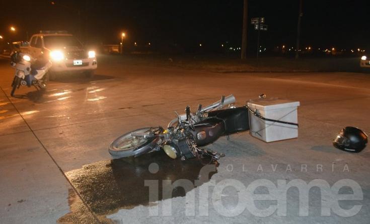 Un motomandados sufrió heridas en un accidente