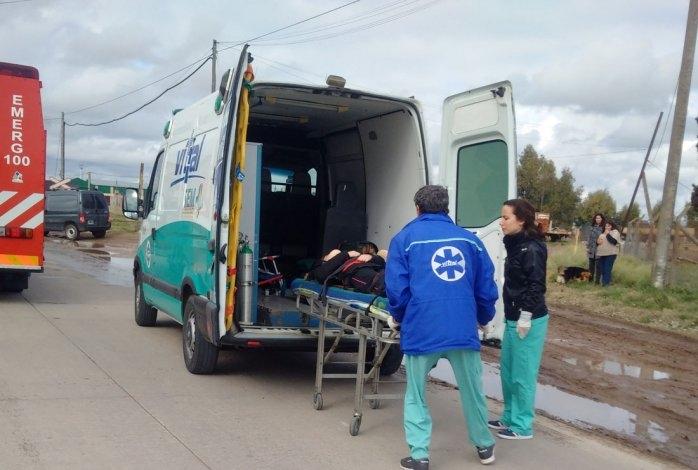 Violentísimo choque a la altura de Escuela Agropecuaria: tres heridos