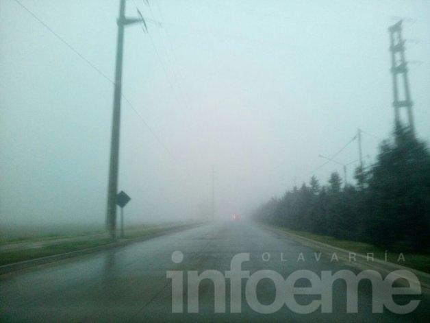 Niebla: precaución por visibilidad reducida