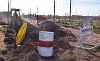 Realizan obras de gas en barrio Pickelado