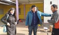 Fernanda Vallejos pasó por Olavarría y dejó su apoyo a Aguilera
