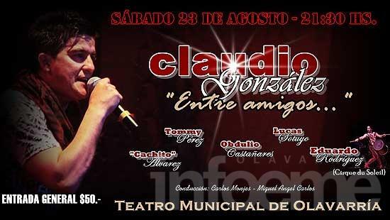 Concierto de música folclórica con Claudio González