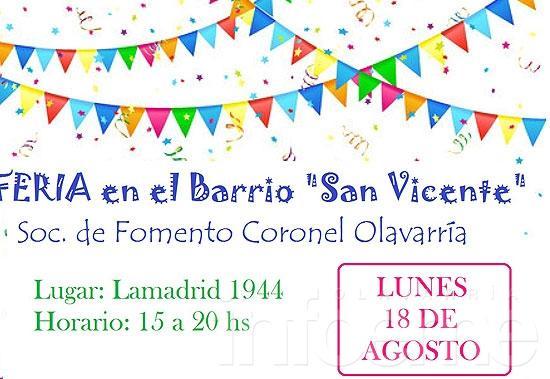 Feria en el barrio San Vicente