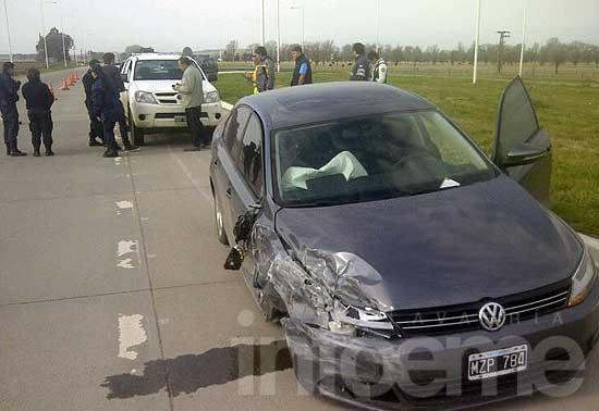 Violento accidente en ruta 226 a la altura del aeropuerto