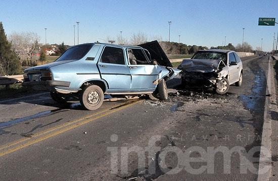 Murió uno de los conductores de un violento choque