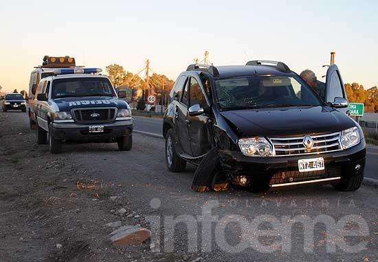 Dos hermanos resultaron heridos tras accidente en ruta 226