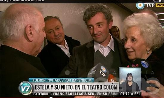 Ignacio y Estela fueron al Teatro Colón invitados por Baremboim