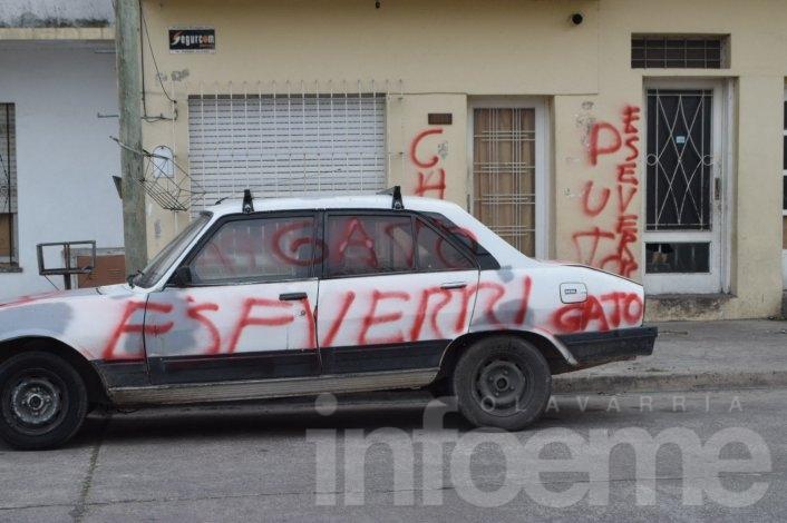 Se ensucia la campaña: realizaron pintadas contra militante eseverrista