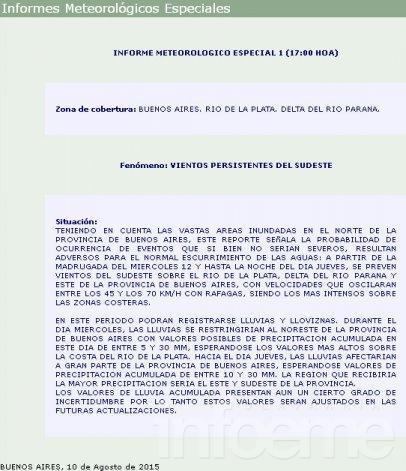 En Olavarría llovieron más de cien  milímetros  en la última semana, y hay 2 mil evacuados en la provincia