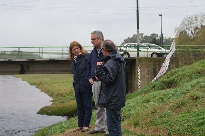Municipio releva datos del comportamiento del arroyo con el sistema telemétrico