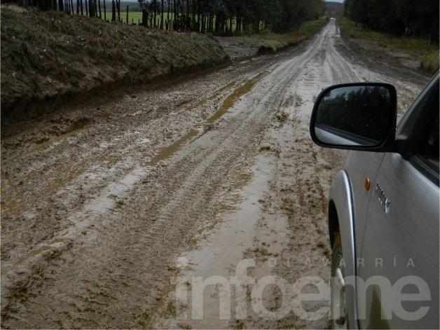 Solicitan no transitar por caminos rurales durante los días de lluvia