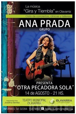 "Ana Prada, ""Otra pecadora sola"" este viernes"