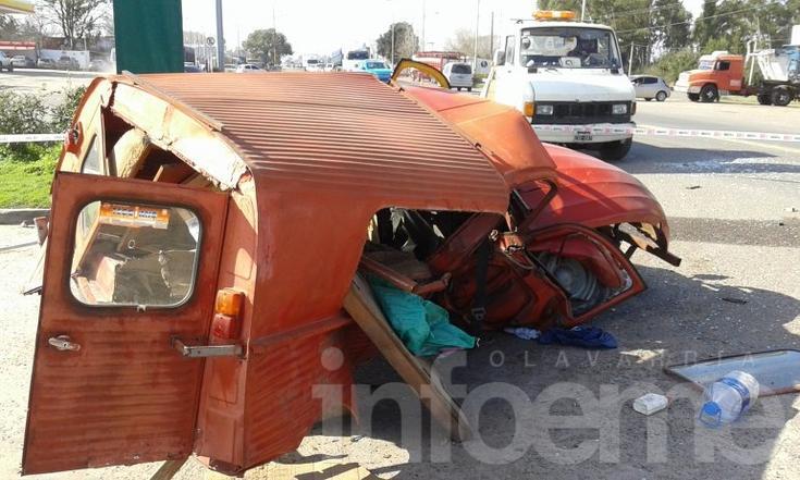 Otro accidente en Ruta 3 que casi termina en tragedia