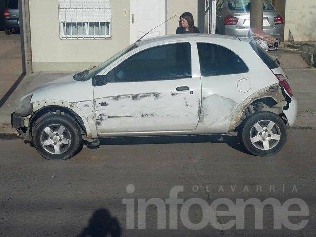 Camionero le chocó el auto y se dio a la fuga