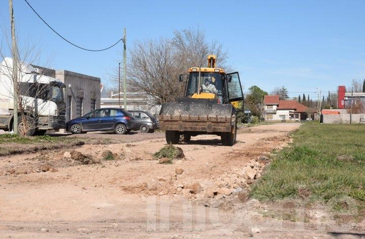 La semana próxima se iniciará la pavimentación en el barrio 12 de Octubre