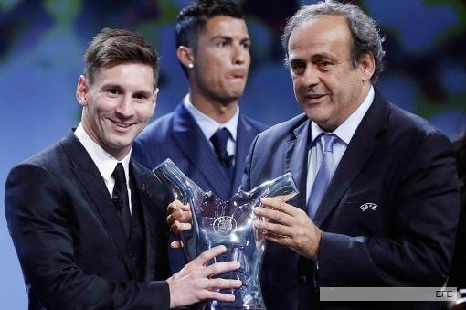 Messi fue distinguido por la UEFA como el mejor jugador de Europa