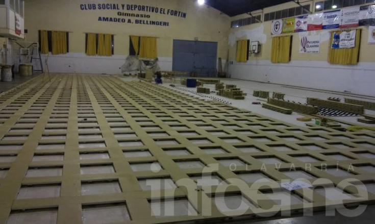 """Avanzan las obras sobre el piso del """"Bellingeri"""""""