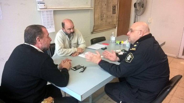 Bajamon y Ripoll se reunieron con el Jefe Distrital de Policía